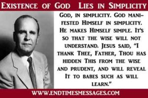 Existence of God Lies in Simplicity