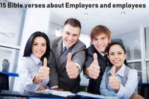 15 Bible verses about Employers and employees