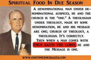 Spiritual food in due season