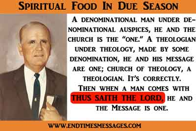 Spiritual food in due season