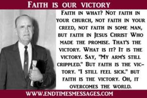 Faith is our victory