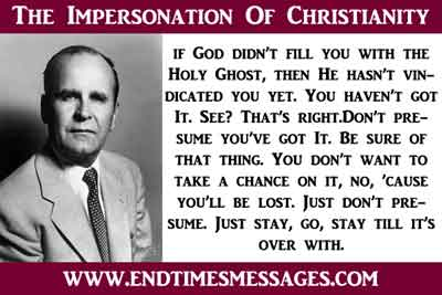 The Impersonation Of Christianity