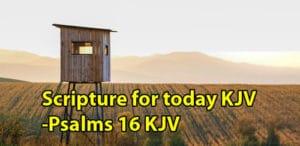Scripture for today KJV -Psalms 16 KJV