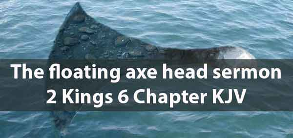 the floating axe sermon