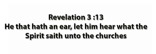 Revelation 3 :13