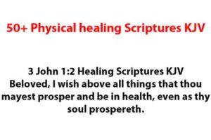 50+ Physical healing Scriptures KJV