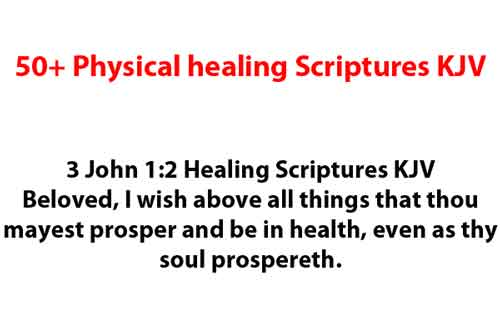 50+ Physical healing Scriptures KJV