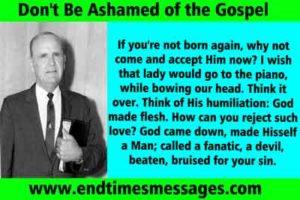 dont be ashamed of gospel