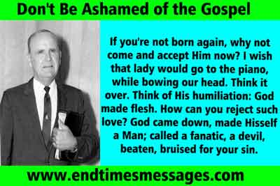 dont be ashamed of gospel