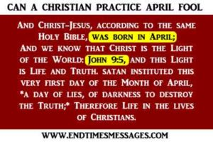 CAN A CHRISTIAN PRACTICE APRIL FOOL