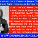 Is it wrong for a Christian Women To Run Beauty Shop, coloring or Cutting Hair?