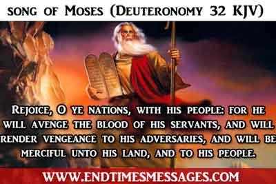 song of Moses (Deuteronomy 32 KJV)