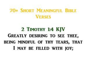 short meaningful bible verses