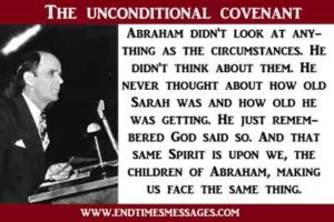 The unconditional covenant