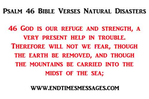 psalm 46 Bible Verses Natural Disasters
