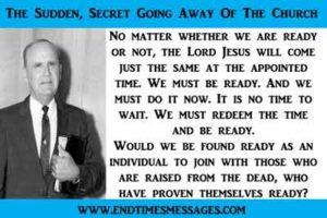 The Sudden, Secret Going Away Of The Church