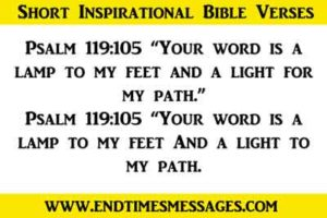 short inspirational bible verses