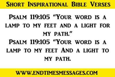 short inspirational bible verses