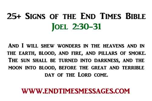 Signs of the End Times Bible