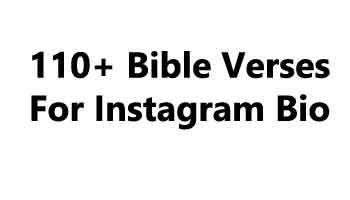 110+ Bible Verses For Instagram Bio