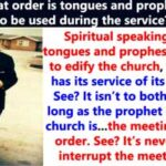 Order of Speaking in Tongues and Prophesying in Church