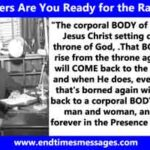 Believers are you Ready for the Rapture?