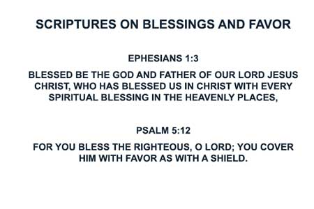 Scriptures on Blessings and Favor