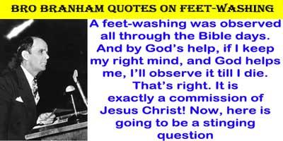 Please explain if a Christian should observe feet-washing
